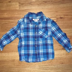 Blue plaid button down, 2T